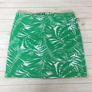 Talbots Tropical Green Hawaiian Summer Skirt